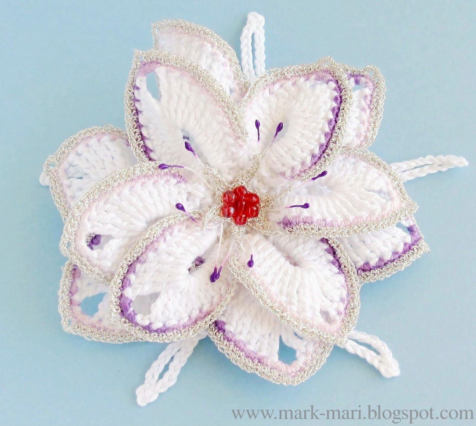 cvety krjuchkom 4 - Вязаные цветы крючком схемы и описание