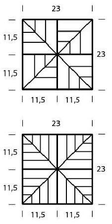 квадратные прихватки крючком схемы
