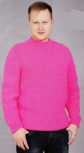 мужской пуловер спицами