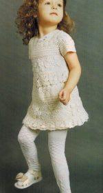plate krjuchkom dlja devochki 3 let 150x280 - Вязаное платье крючком для девочки схемы и описание