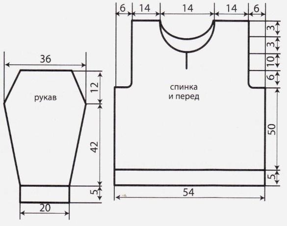 pulover spicami muzhskoj na molnii vykrojka - Вязаный мужской пуловер спицами схемы с описаниями