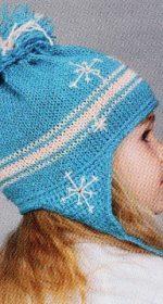 shapka s ushkami spicami dlja devochki 1 150x280 - Вязаные шапки для девочек спицами со схемами и описанием