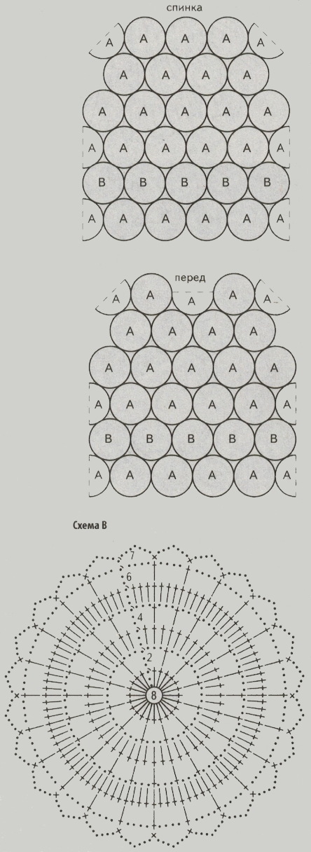 top iz motivov krjuchkom shema b - Вязаный топ крючком схемы и описание для женщин