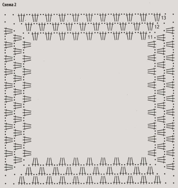 туника из бабушкиных квадратов крючком схема 2