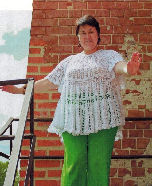 туника крючком для полных женщин со схемами все вязание