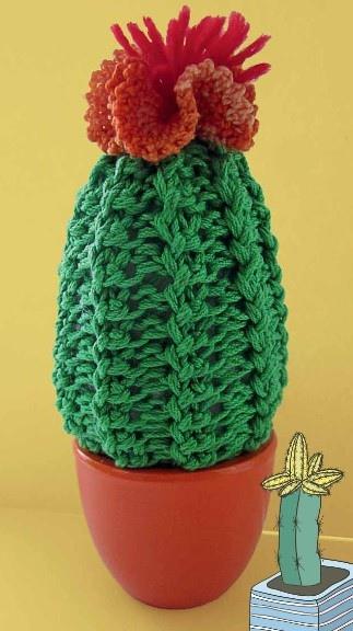 Вязаный кактус крючком