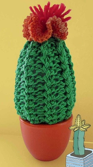 vjazanyj kaktus krjuchkom - Вязаные цветы крючком схемы и описание