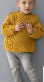 vjazanyj sviter na malchika 4 goda spicami 150x280 - Вязаный свитер для мальчика спицами