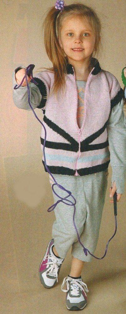 жилетка для девочки спицами