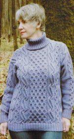 azhurnyj sviter spicami 150x280 - Вязаный ажурный пуловер спицами схемы и описание
