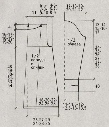 Вязаный ажурный жакет спицами схемы и описание