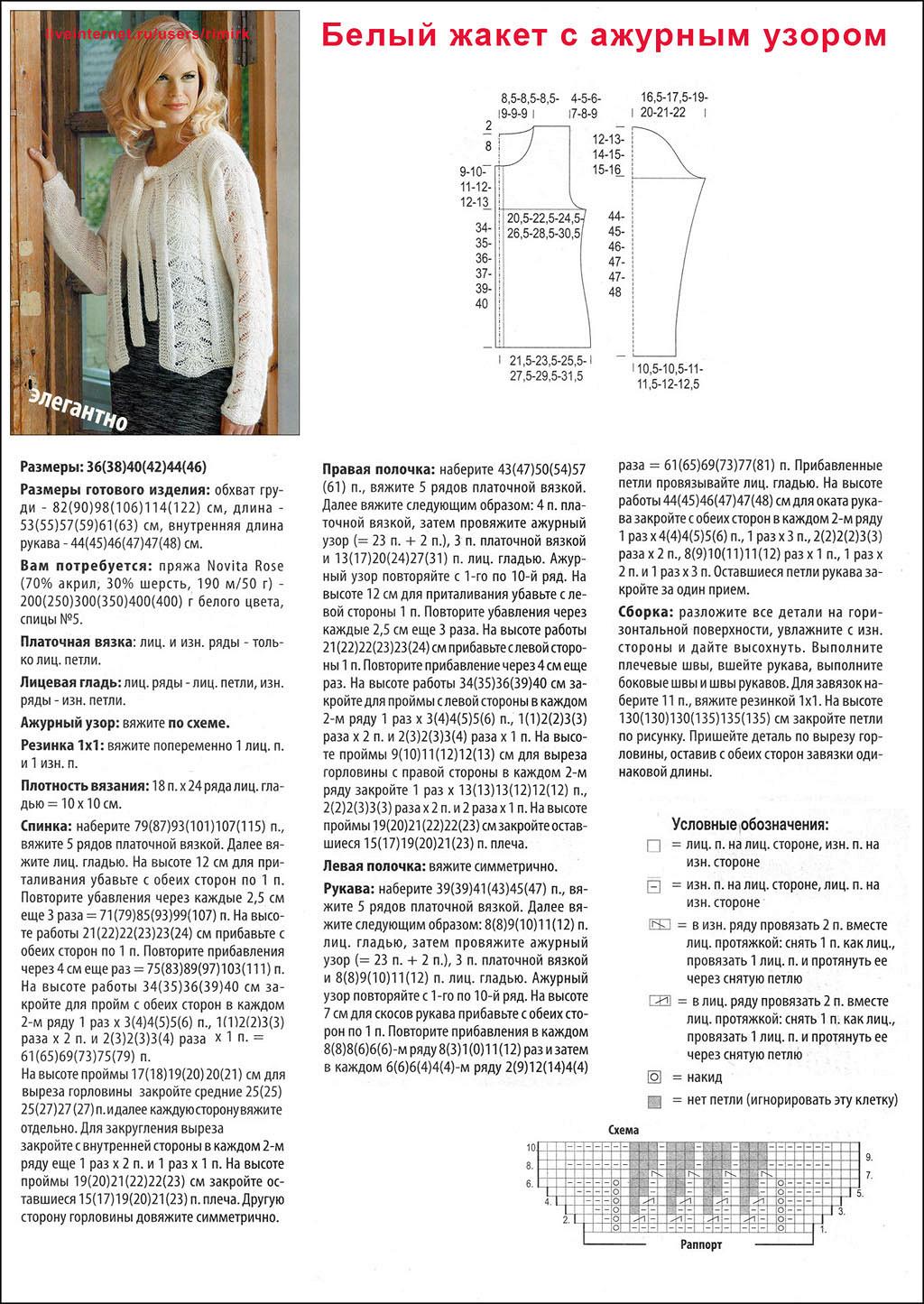 Ажуры спицами - образцы и Вязание на спицах ажурные жакеты схемы