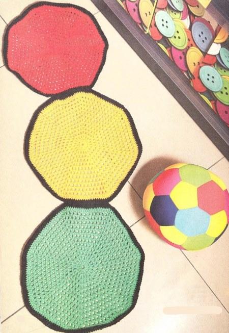 detskie kovriki kryuchkom - Вязаные коврики крючком со схемами простые и красивые