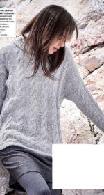 pulover s kosami spicami 1 150x280 - Вязаные свитера с косами спицами схемы с описанием