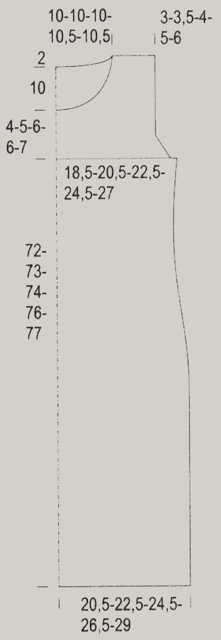 Серое вязаное платье спицами