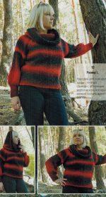 sviter s kapyushonom spicami 150x280 - Вязаные свитера с капюшоном спицами