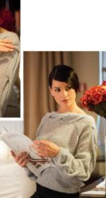 vjazanyj pulover spicami s kosami 150x280 - Вязаные свитера с косами спицами схемы с описанием