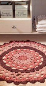vjazhem krjuchkom kovriki na pol 150x280 - Вязаные коврики крючком со схемами простые и красивые