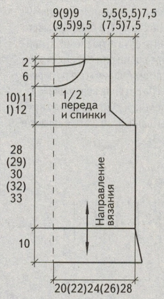 azhurnyj letnij top spicami vykrojka - Вязаный ажурный топ спицами схемы и описание