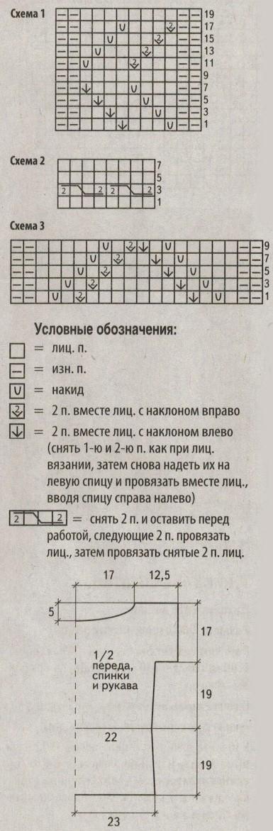 azhurnyj top spicami shemy - Вязаный ажурный топ спицами схемы и описание