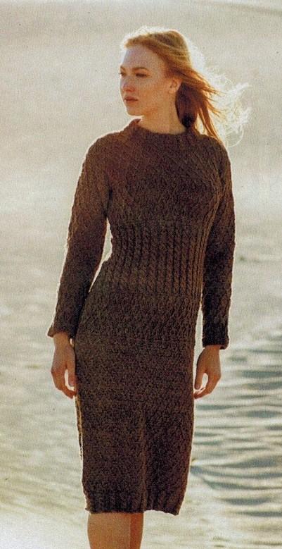 платье с косами спицами