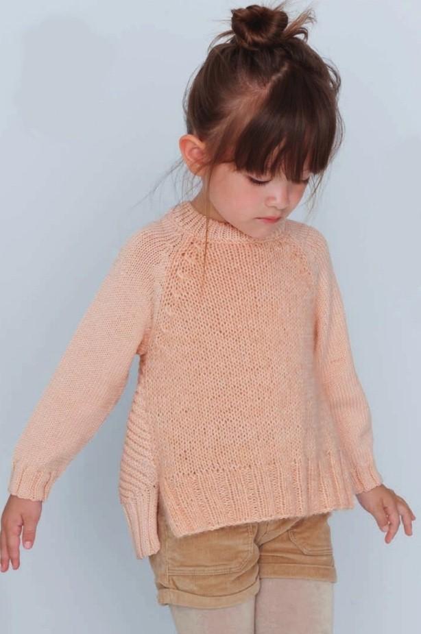 pulover dlya devochki spicami - Вязаный пуловер для девочки спицами