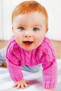 свитер для малыша спицами