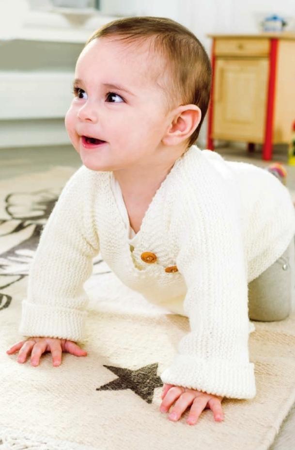 zhaket dlya novorozhdennogo spicami - Вязаный жакет для новорожденного спицами