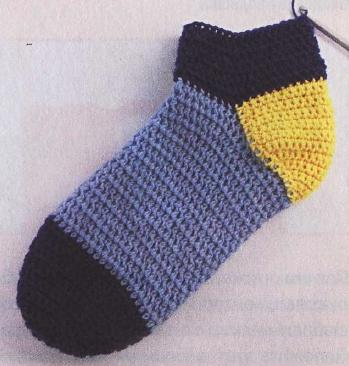 verhnjaja chast noska - Как вязать носки крючком?