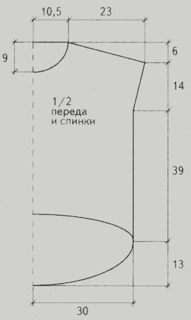 golubaya tunika spicami vykrojka - Вязаная голубая туника спицами схемы и описание