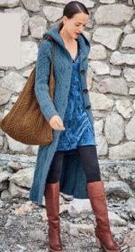 palto s kapjushonom spicami 150x280 - Вязаное пальто спицами для женщин схемы и описание