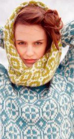 sharf petlya 1 150x280 - Вязаный шарф петля спицами