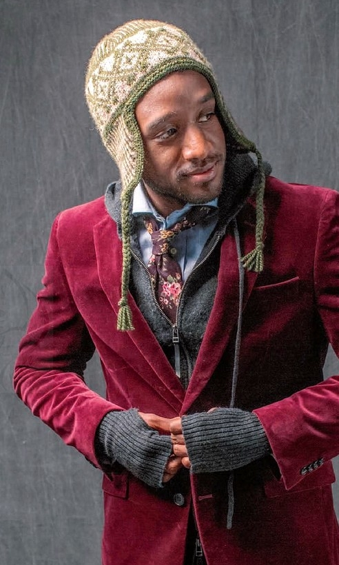 мужская шапка с ушками спицами