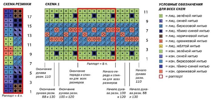 muzhskoj dzhemper s zhakkardovym uzorom spicami shema - Вязаный мужской джемпер спицами схемы с описаниями