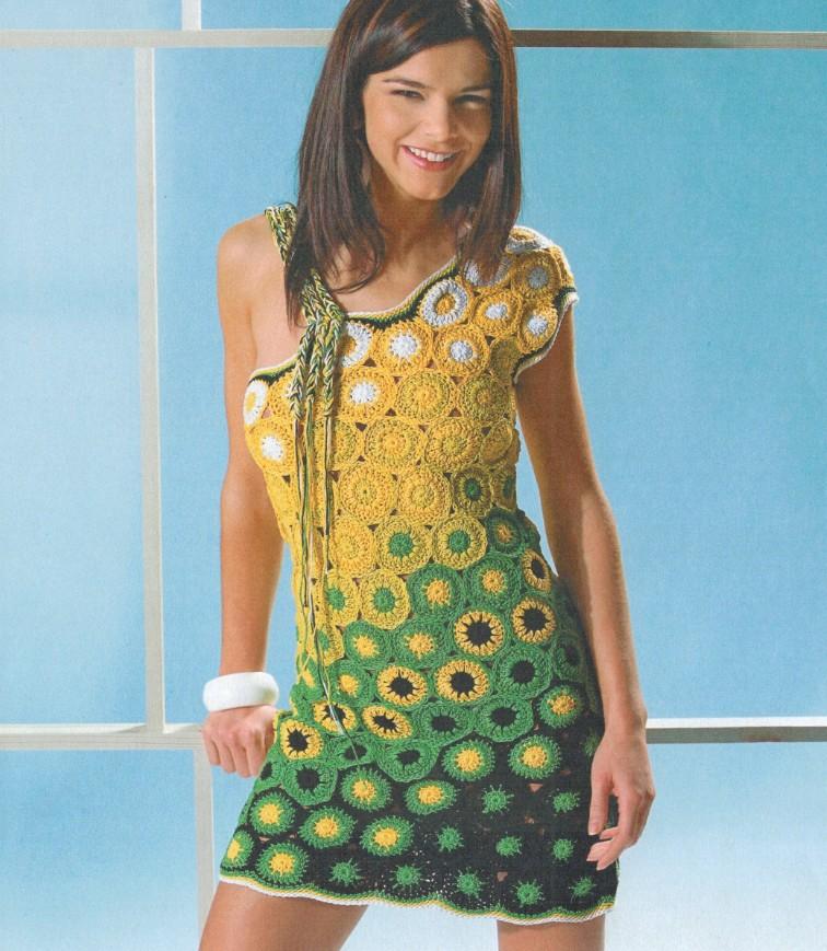 летнее платье из мотивов крючком