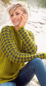 pulover krjuchkom reglan sverhu 150x280 - Вязаный свитер реглан крючком