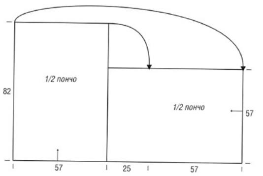 vjazanoe poncho spicami s vysokim vorotnikom 2 - Вязаное пончо с воротником спицами схемы и описание