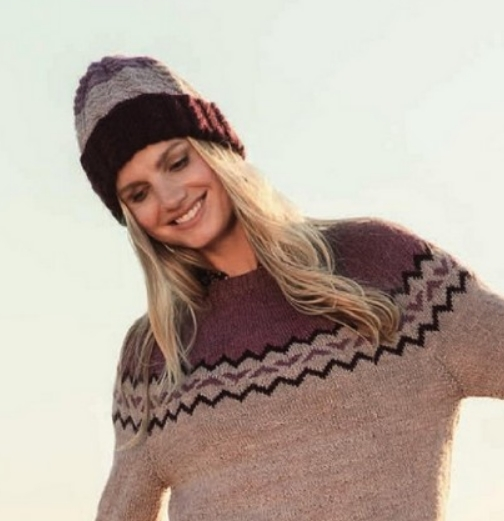 Вязание шапки косами на спицах