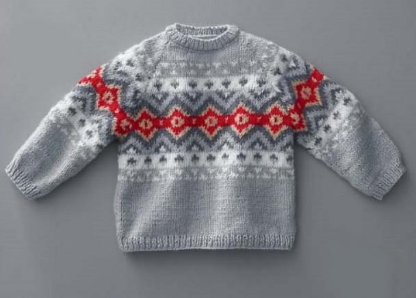 vyazanyj detskij sviter spicami - Вязаный детский свитер спицами