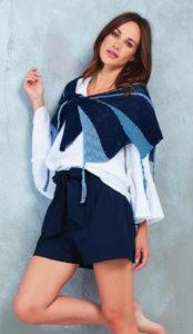 Вязаный платок спицами платочной вязкой