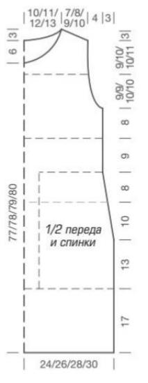 teplye vyazanye tuniki spicami 1 - Теплые вязаные туники спицами для женщин