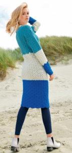 Разноцветное платье крючком
