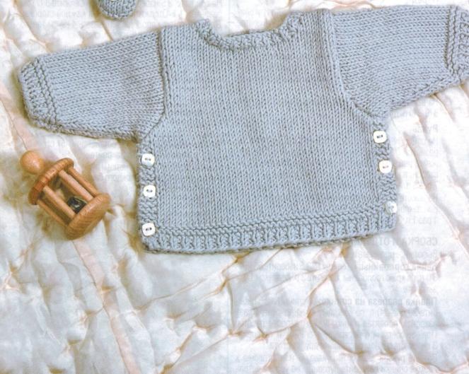 Вязаная кофточка для малыша 6 месяцев спицами